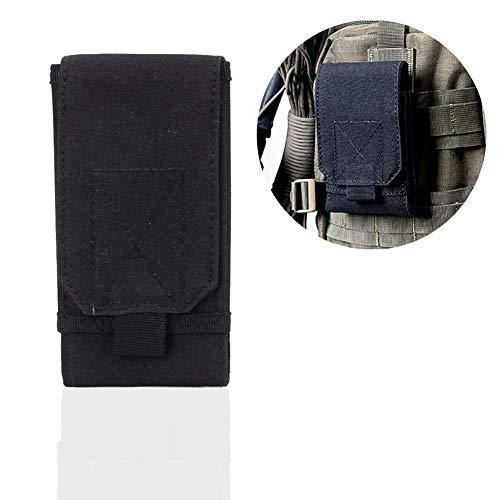 1PC Tactical Molle Pouch Compact EDC Pouch-Dienstprogramm Gadget Taillen-Beutel-Satz Handy-Gürteltasche Abdeckungs-Fall für Outdoor (Schwarz) -