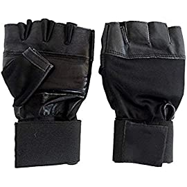 Neulife Gym   Fitness Gloves  Free Size, Black