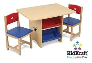 KidKraft 26912 - Tisch- und 2-Stühle-Set Sternchen