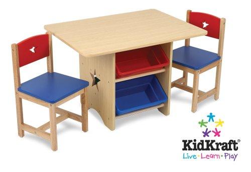 Preisvergleich Produktbild KidKraft - Tisch-Set Stern mit 2 Stühlen