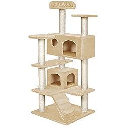 TecTake Rascador Para Gatos Árbol Para Gatos Trepar Sisal Juguetes - disponible en diferentes colores - (Beige | no. 400575)