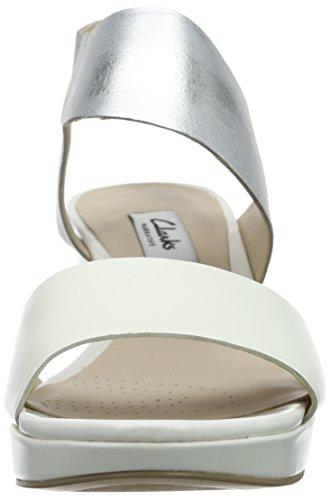 ClarksOrnate Fleur - Sandali Donna Bianco (White Combi)