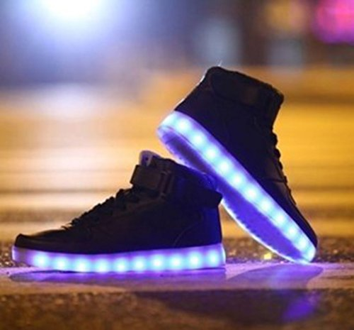(Present:kleines Handtuch)JUNGLEST® 7 Farbe USB Aufladen LED Leuchtend Sport Schuhe Sportschuhe Sneaker Turnschuhe für Unisex-Erwa c12