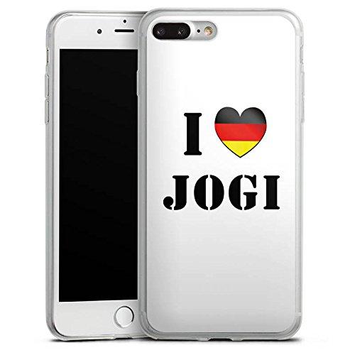 Apple iPhone 8 Plus Slim Case Silikon Hülle Schutzhülle Joachim Löw I Love Jogi Fußball Silikon Slim Case transparent