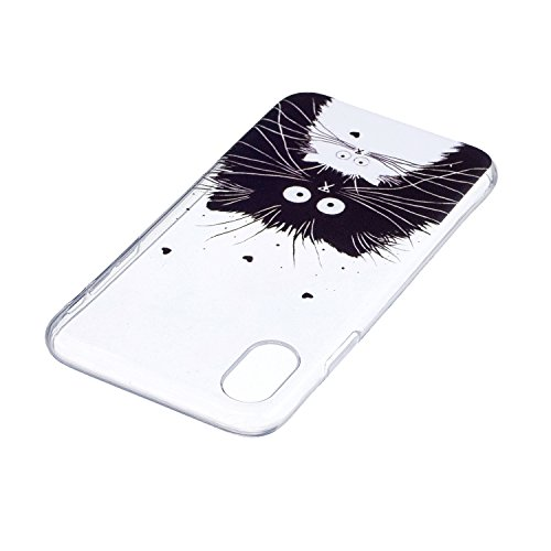 Coque iPhone X, Voguecase [Ultra Fin] [Anti Choc] [Anti Rayures] Premium TPU Silicone, Exact Fit / Léger / Souple Housse Etui Coque Pour Apple iPhone 10 (2017) (papillon rouge 04)+ Gratuit Stylet à Al LM 01
