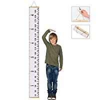 "Baby Growth Chart Hanging Wall Decor, Canvas Removable Roll Up Height Record Chart Ruler for Kids, Children,Boy and Girls 79""X7.9""(200 * 20cm)"