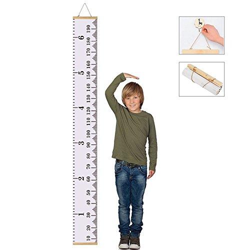 JUNXAVE Baby Wachstum Diagramm auf die Lineal Wall Decor für Kinder, Leinwand abnehmbaren Rolle bis Höhe Record für Kinder Kinderzimmer 200,7x 20,1cm (200* 20cm)