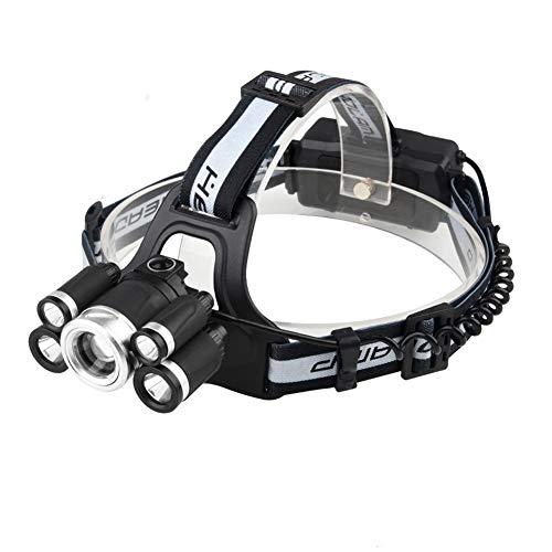 Stirnlampe,USB Stirnlampe Wiederaufladbare kopflampe Wasserdicht, kopflampe 5 Betriebsarten für Outdoor Camping Angeln