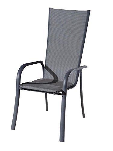 6er Sparset graue Luxus Stuhlauflagen Auflage Sitzkissen Kissen Stuhl Gartenstuhl Auflagen...