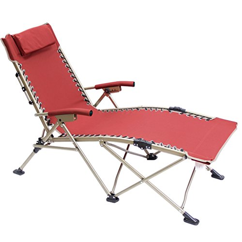 Folding Zero Gravity Stühle Gepolsterter Garten Reclining Relaxer Lounge mit weicher gepolsterter...