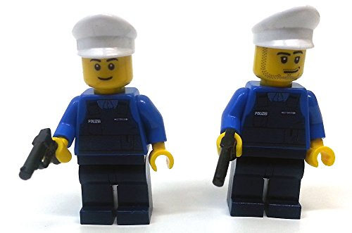 Modbrix 8237 – 2 Stück Deutsche Polizei Custom Minifiguren aus original Lego© Teilen - 5