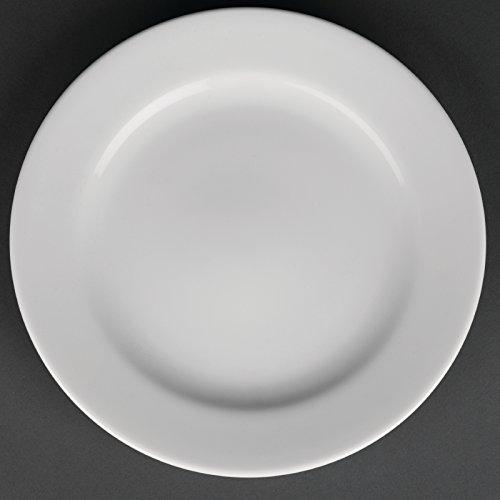 12 x Royal en porcelaine Blanc classique Bord Large Service Assiettes 210 mm