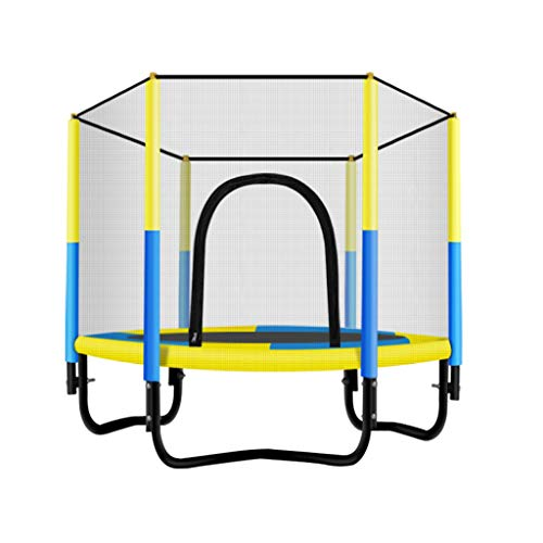 XYWLYLHOME Sporttrampolin Kinder-Indoor-Trampolin Mit Schutzschild Sprungmatte Ohne Spaltdesign Maximale Tragkraft 250kg 5ft