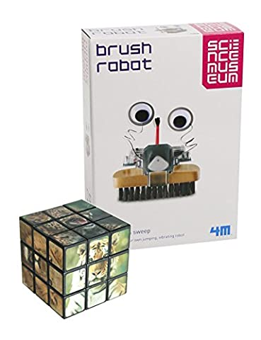 Entertaining & Fun - Top Selling Boys & Girls Gift Idea For Christmas or Birthday - Fun Educational Activity Age 8+ Science Museum Build Your Own Brush Robot & Animal Puzzle Cube Toy