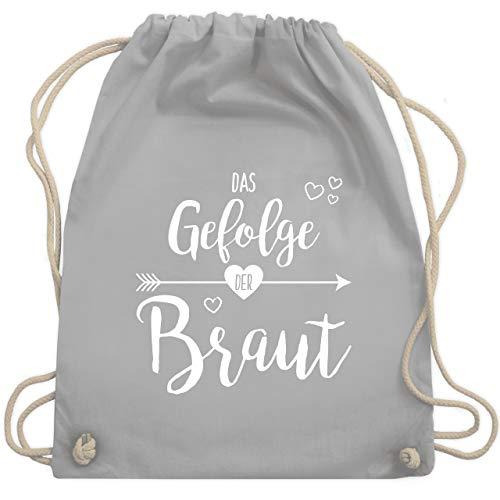 Der Pfeil Kostüm - JGA Junggesellinnenabschied - Das Gefolge der Braut - Unisize - Hellgrau - WM110 - Turnbeutel & Gym Bag