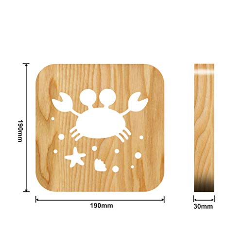 Crabe Creative Products Lampe Veilleuse LED USb Veilleuse 3D