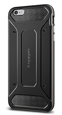 Coque iPhone 6s Plus, Spigen [Neo Hybrid Carbon] Carbon Fiber [Gunmetal] Slim Fit + Reinforced bumper protection Pour iPhone 6 Plus (2014) / 6s Plus (2015) - Gunmetal (SGP11666)
