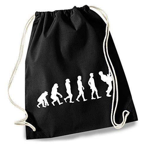 HAPPY FREAKS Turnbeutel/Stoff-Rucksack 'Evolution Musik' - Unisex-Rucksack für Konzert, Schule, Freizeit und Einkauf