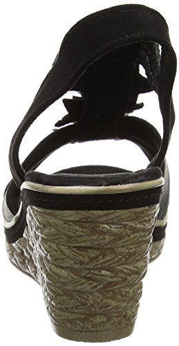 Marco Tozzi 28302, Sandales Bout Ouvert Femme Noir (Black Comb 098)