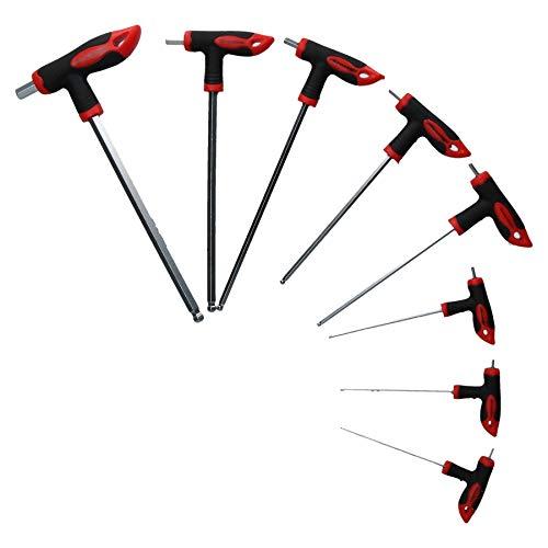 usschlüssel T-Griff Set mit Kugelköpfen endete 2 mm - 10 mm ()