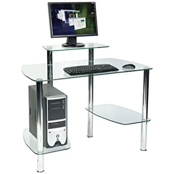 Ice Glass Workstation Tempered Glass Computer Workstation