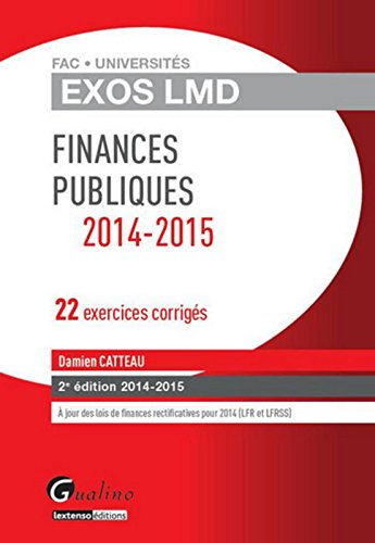 Exos LMD - Finances publiques, 2ème Ed