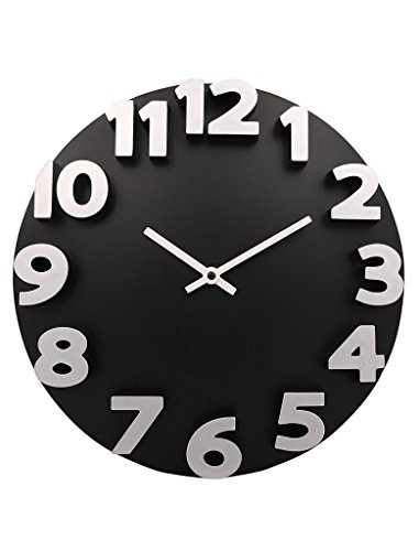 Panna Rd 3D Wall Clock (Black)