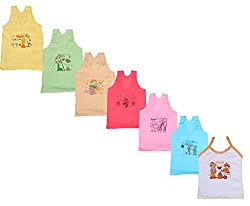 IndiWeaves Girls Pure Cotton Cartoon Print Slips/Vests (Pack of 7)_Multiple_8-10 Years