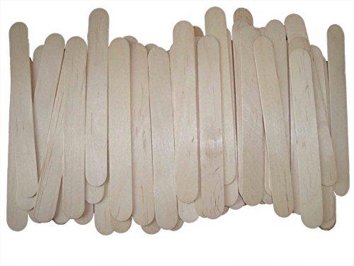Lumanuby Holzstiele für Eis DIY Wooden Stiel für Speiseeis und Sorbets Size 11.4*1.5*0.2cm (30pcs)