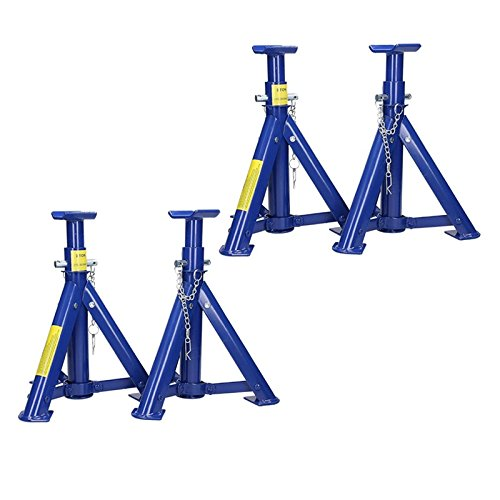 ECD Germany Set 4x Adjustable Sealey Folding Axle Supports 3 Tonne per Stand Test