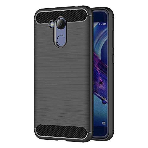 AICEK Honor 6C Pro Hülle, Schwarz Silikon Handyhülle für Huawei Honor 6C Pro Schutzhülle Karbon Optik Soft Case (5,2 Zoll)