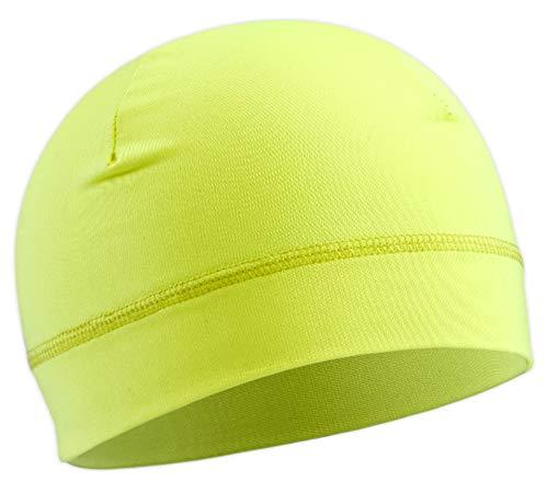 OutdoorEssentials Skullmütze/Helmfutter/Laufmütze, 2 Stück, für Damen und Herren Ultimative Wärmerückhaltung und Leistungsfähigkeitstransport. Passt unter Helme, Unisex, gelb