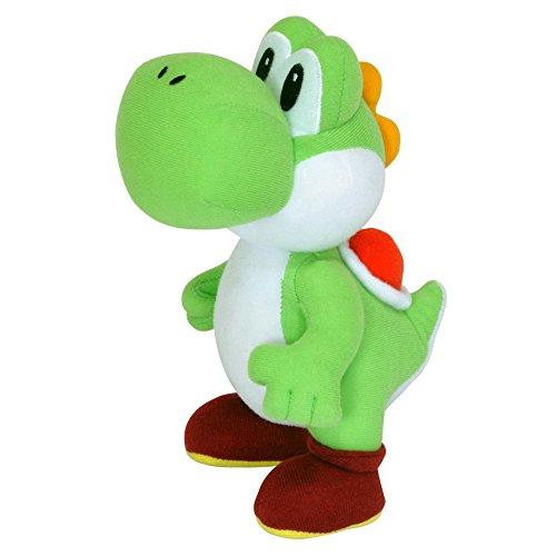 Preisvergleich Produktbild Super Mario AGMSM6P-01Y - Offiziell lizenzierte Nintendo Yoshi Plüschfigur, 20 cm, grün