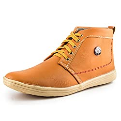 Golden Sparrow MenS Tan Fabric Synthetic Casual Shoe (Tm-P10-09)- 9 Uk