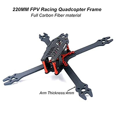 DroneAcc X210 FPV Racing Quadcopter Frame Carbon Fiber Quadcopter Frame kit for Brushless Motor 2204 2205 2206 … by DroneAcc