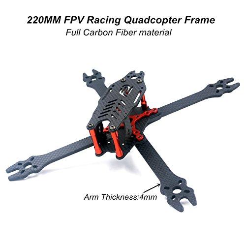 DroneAcc X210 FPV Racing Quadcopter Frame Carbon Fiber Quadcopter Frame kit for Brushless Motor 2204 2205 2206 (2206 Motor)