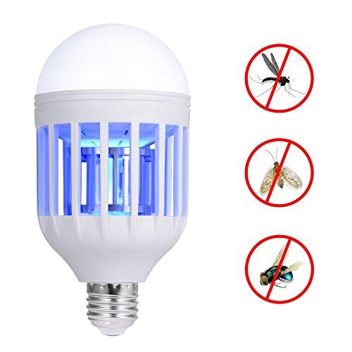 110V Mosquito Killer Lampe, Bug Zapper Glühbirne, Elektronischer Insektenvernichter, Passt in E26/E27 Glühbirnensockel, Moskitofalle Nachtlampe für Innenveranda Terrasse Hinterhof