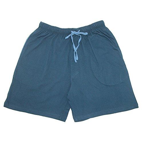 Hanes Herren Jersey Knit Baumwolle Button Fly Pyjama, Sleep Shorts Gr. Medium, navy (Hanes-button Boxer Fly)