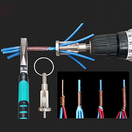 Outil De Torsion De Fil,LHWY Pince à DéNuder Et Twister à Utiliser avec Les Forets De Perceuse, Fil Accessoires pour Outils éLectriques DéNuder Et Tordre SimultanéMent Les CâBles