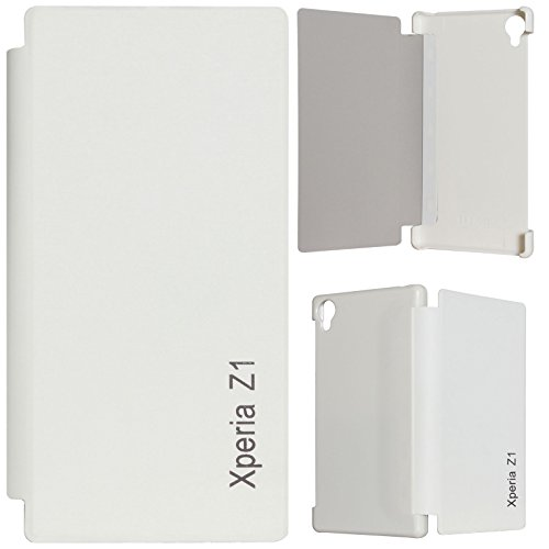 DMG PU Leather Flip Book Cover Case for Sony Xperia Z1 - White  available at amazon for Rs.199