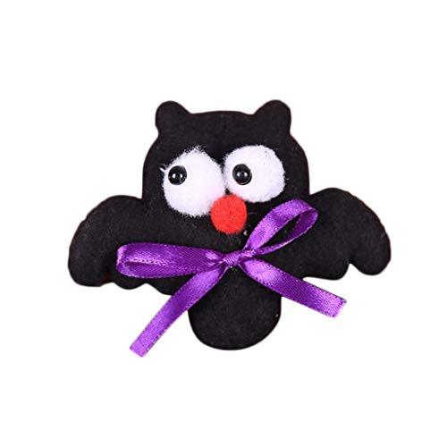Mitlfuny SchöNe Halloween Pumpkin Ghost Bat Leuchtet Auf LED Sticker Abzeichen Brosche Pins, Bling Bling Zack Button, Anstecker, Anstecknadel, Ansteckpin, Ansteck Button (B) -