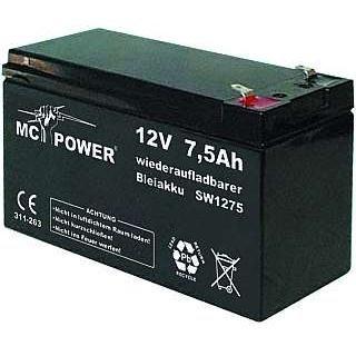 Preisvergleich Produktbild 12V-Blei-Akku mit 7,2 Ah, Flachstecker 4,8 mm