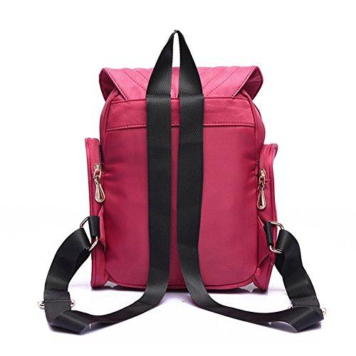 Estwell Frauen Mädchen PU Leder Eule Rucksack Handtasche Lässig Daypack Reise Schultasche Lila