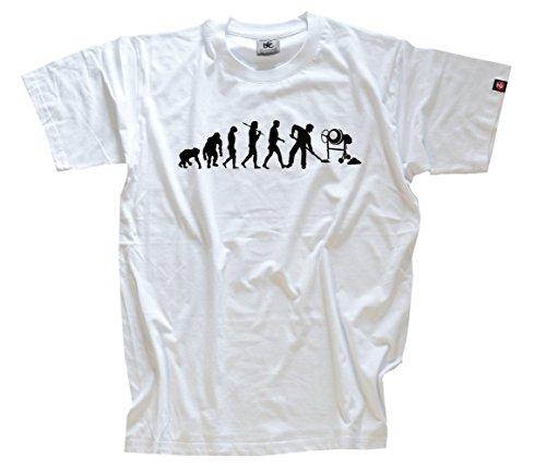 Preisvergleich Produktbild Bauarbeiter II Betonmischer Baustelle Evolution T-Shirt Weiss L