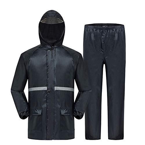 Guolipin Herren Warnweste Männer und Frauen Erwachsene Split Wasserdichte jacken reflektierende Regenmantel straßenverkehr Sicherheit Outdoor Regenmantel Hose Anzug (Size : XXXL)