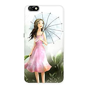 Gorgeous Umbrella Princess Multicolor Back Case Cover for Honor 4X