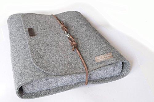 personalisierte für MacBook 13 / 15 Zoll Filz Hülle Laptoptasche Namen Laptophülle 15 Zoll Leder Karabiner retro vintage Laptop Tasche Buchstaben (Laptop Personalisierte Leder)