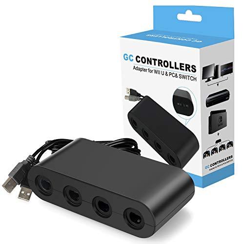 roller Adapter, Super Smash Bros Gamecube Adapter für Nintendo Switch, Wii U und PC USB mit 4 Ports - Plug & Play, Keine Treiber erforderlich ()