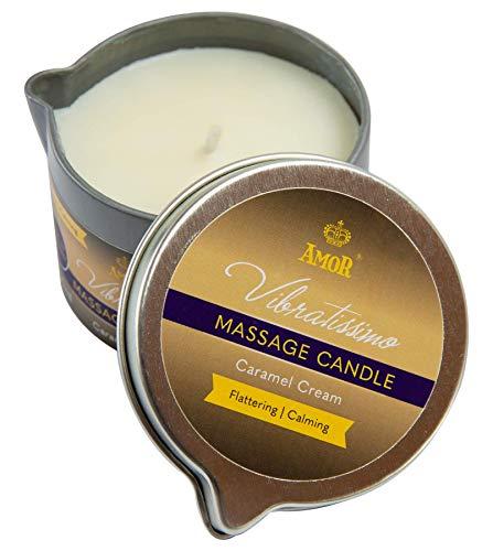 "Vibratissimo® Massagekerze""Caramel Cream"", MADE IN GERMANY, 100ml,Karamellaroma"