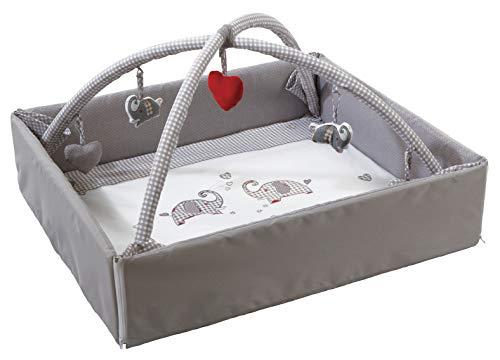 roba Baby Nest 4in1 \'Jumbotwins\', abwaschbare Wickelauflage mit Absturzsicherung, Kuschelnest, Spiel- & Krabbeldecke, Activity Center mit Spielbogen & Spielelementen & Laufgittereinlage